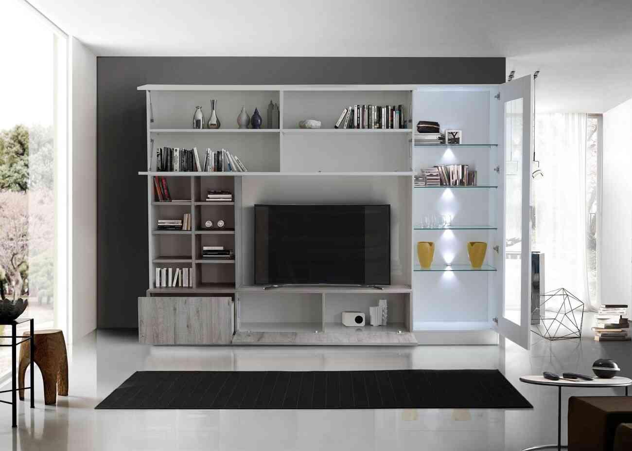 Soggiorno Rovere Grigio : Line soggiorno rovere grigio aperto lq gruppo inventa