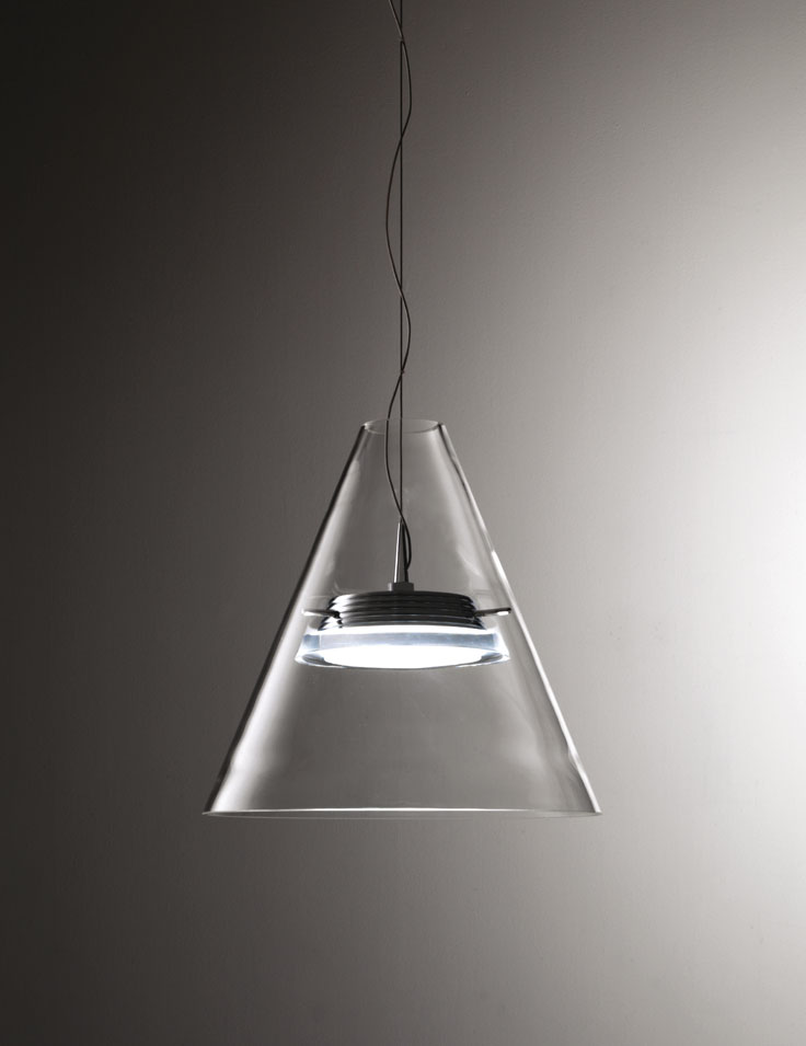 Lampadario Sospensione Vetro Trasparente.Lampada Sospensione Capri M6001 4 Gruppo Inventa Arredamento