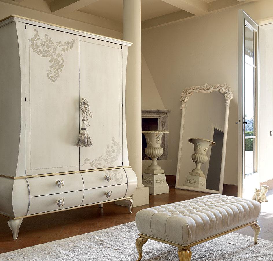 Camera da letto classica oro ad hoc volpi gruppo for Arredamento volpi