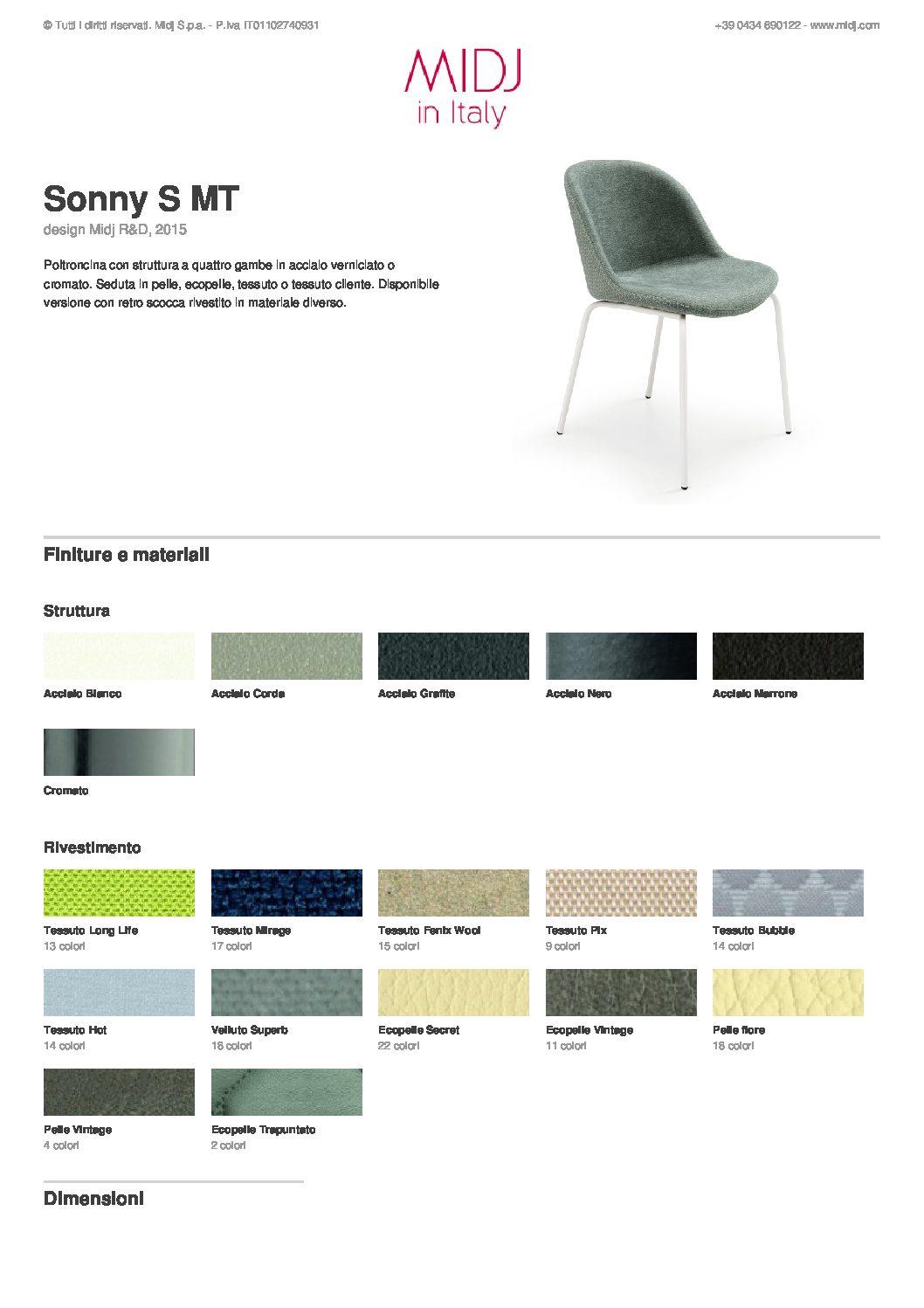 531a4a5eb Sonny S MT Chair - Midj - Gruppo Inventa Furniture Malta - Made in ...