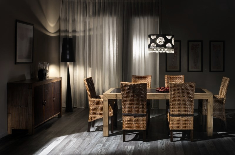 Sedie In Rattan Da Interno : Hotel moderno bamboo dining rooms collection u bortoli u gruppo