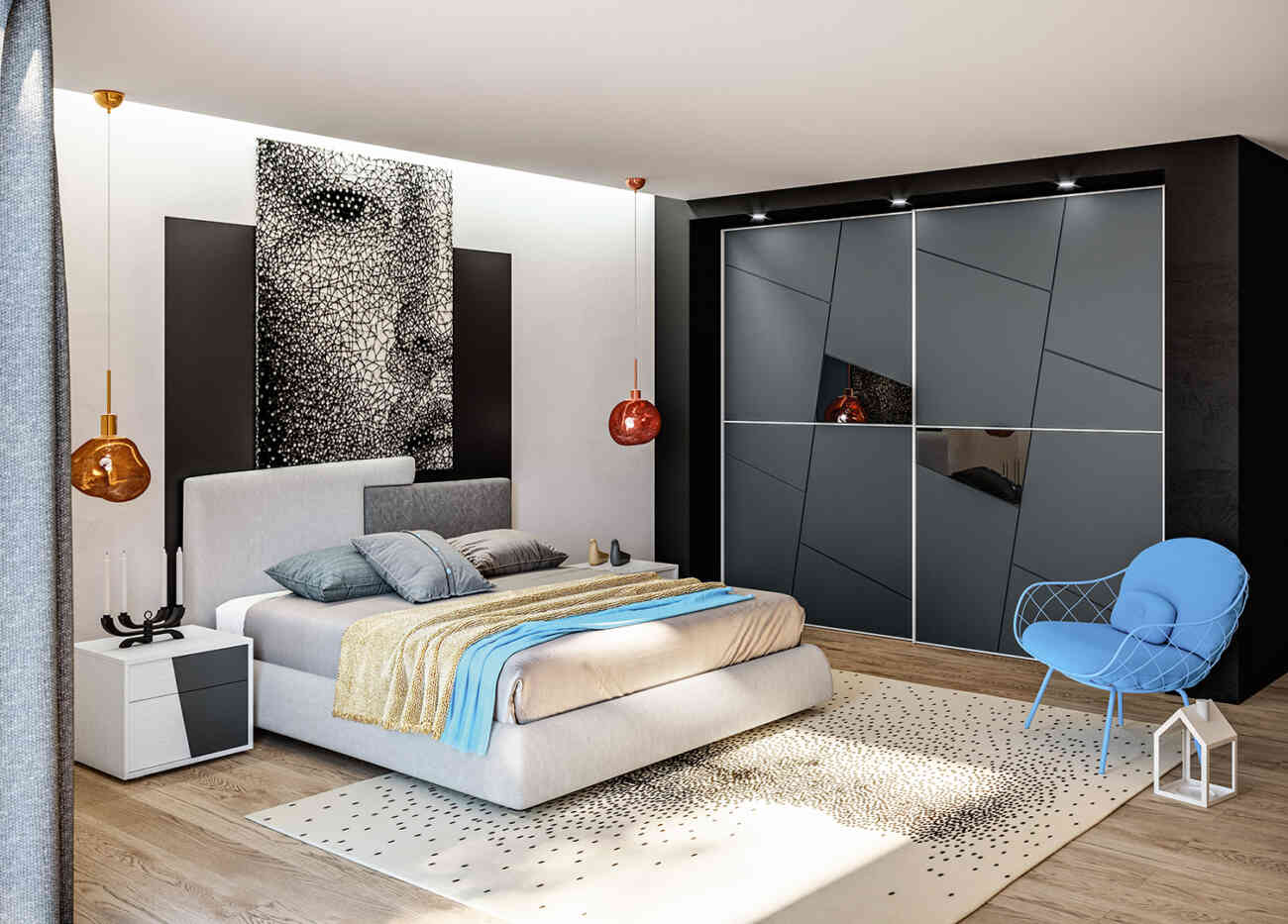Camera da letto 17 - Giessegi - Gruppo Inventa Arredamento Pozzallo ...